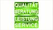 Schild Qualität grün