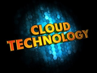 Cloud Technology on Digital Background.
