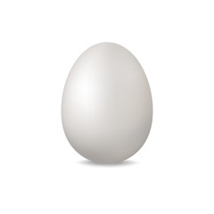 Lightt egg on a white background