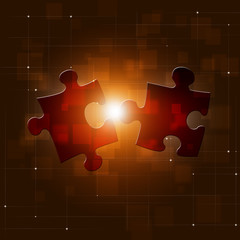 Puzzle Connection Red Business Background