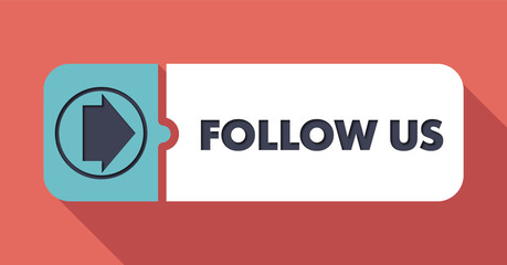 Follow Us Concept in Flat Design.