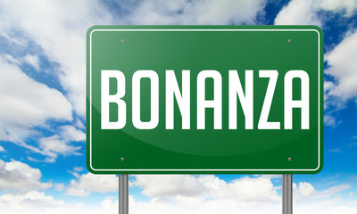Bonanza on Green Highway Signpost.