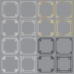 square fret frames