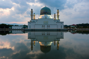 Kota Kinabalu city mosque in Sabah, East Malaysia, Borneo
