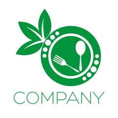 логотип ресторан зеленое яблоко
