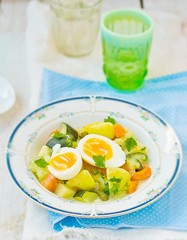 stewed vegetables  with egg