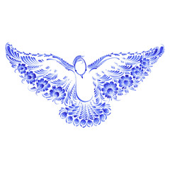 floral decorative ornament dove peace