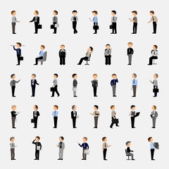 Business Men - Isolated On Gray Background