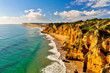 canvas print picture - Rocks and Cliffs along the Coast of Lagos, Algarve
