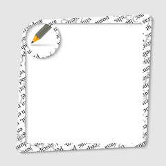 vector text box for any text with pencil