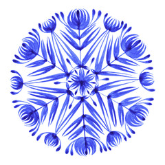 floral decorative ornament snowflake