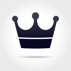 black crown icon in grey background