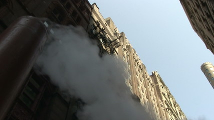Steam from New York street