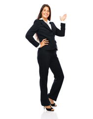 Business woman businesswoman in full length copy space