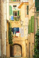 Twisted streets of Siena, Tuscany, Italy