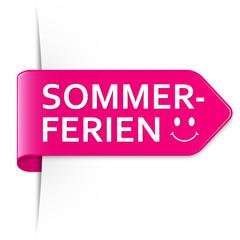 Langer pinker Sticker Pfeil – Sommerferien