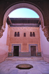 Patio del Cuarto Dorado, Alhambra de Granada, Andalucía, España