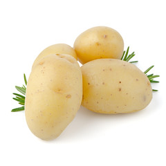 New potatoes and green herbs
