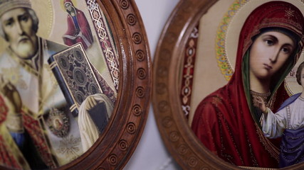beautiful orthodox icon in room
