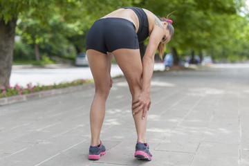 cramp in leg calf during jogging