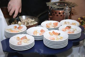 buffet portata antipasto al ristorante