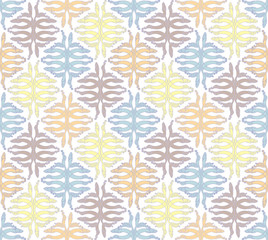 Gentle seamless pattern - geometric quilt.
