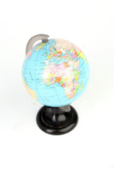 Globe on a white background