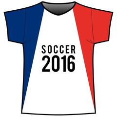 Fan Trikot Soccer Frankreich 2016