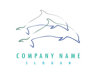 Dolphin lines logo