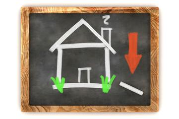 Blackboard Housing Market Decline