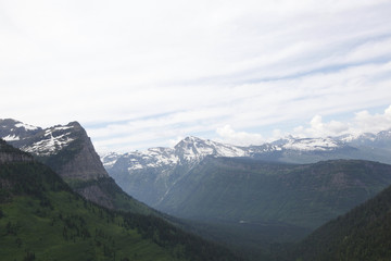 A scenic view in Glacier National Park in Montana.