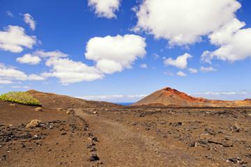 Mountains of fire.Timanfaya volcanoes park.Lanzarote.