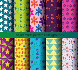 backgrounds patterns ten seamless