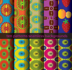 ten patterns background
