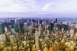 Aereal view of Manhattan with beautiful sky