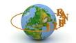 Webinar on a orange ring rotates around the earth