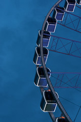 Giant swing on blue sky