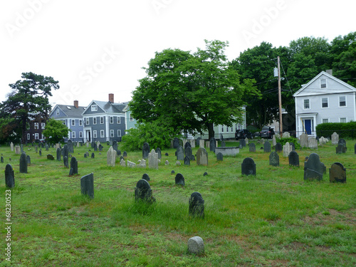 Foto op Plexiglas Begraafplaats Graveyard in Salem, Masachusetts