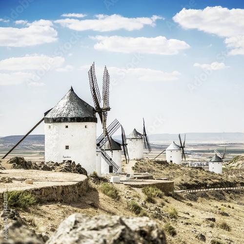 Windmills of Consuegra in Toledo province, Spain