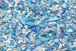 Leinwandbild Motiv Plastic resin pellets background