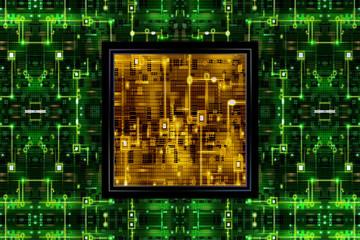 Green&Yellow Circuit Board