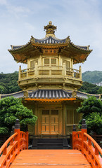 Golden Pavilion of Perfection in Nan Lian Garden, Hong Kong