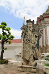 chinese giant statue at wat poh, Bangkok