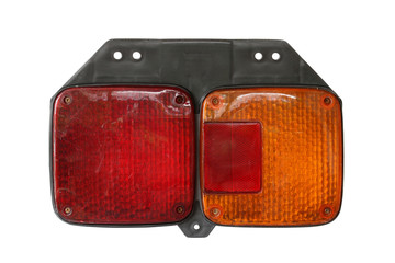 Tail light for truck isolated on white background