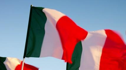 Italien Flagge vid 04