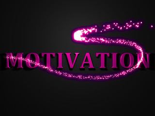 MOTIVATION- 3d inscription with luminous line with spark