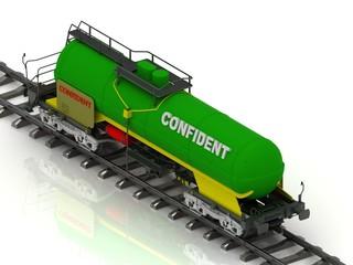 Railway wagon inscription Confident