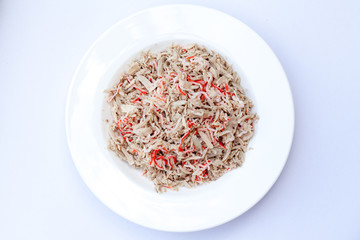 tuna and  Kanikama or  Imitation Crab Stick Cat food