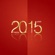 Gold 2015 front back red background vector