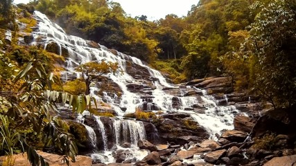 HD Time Lapse Maeya waterfall gopro zoom in